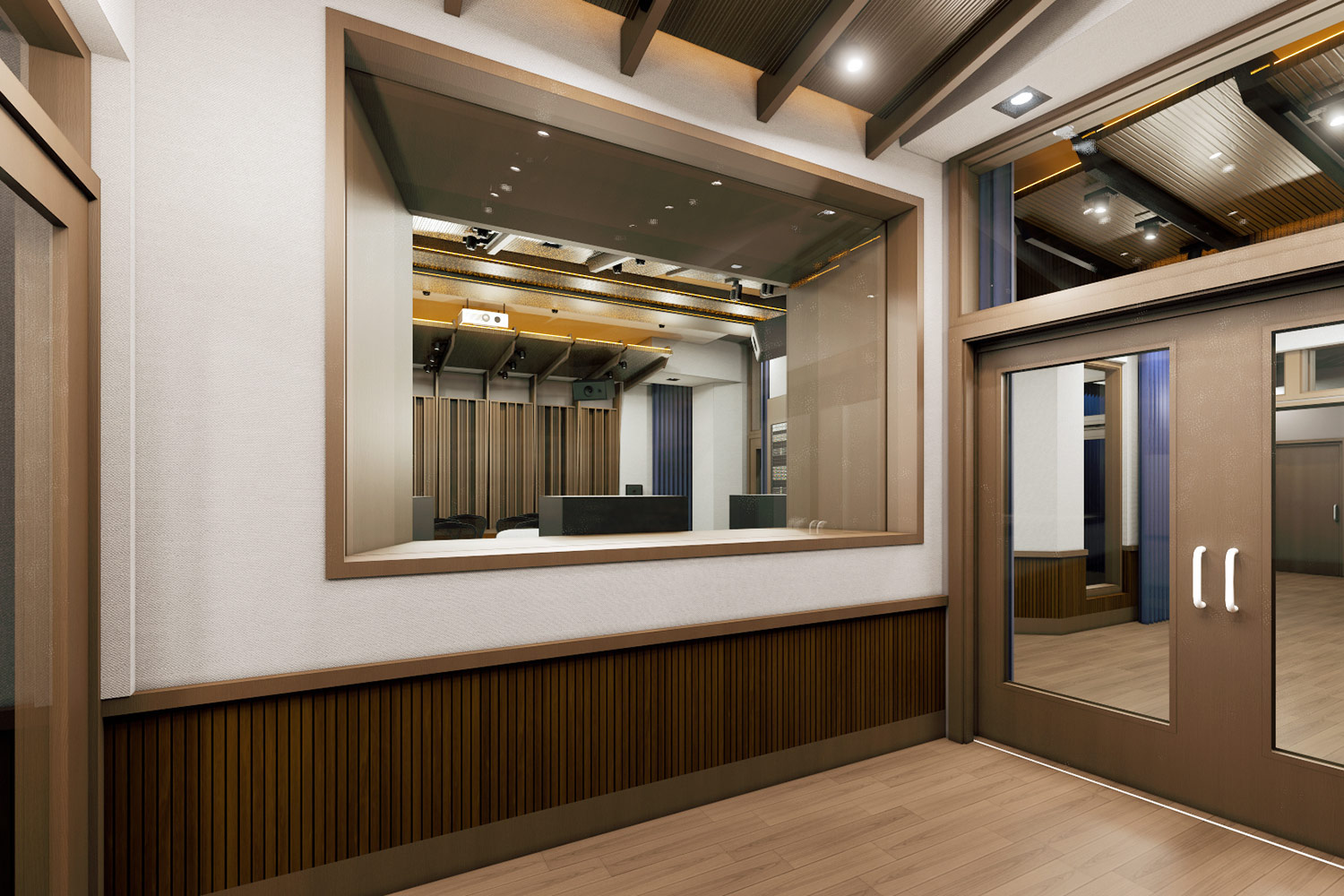 Mix with the Masters hired WSDG for the acoustic design and systems integration of their new recording studio complex in Paris, France. Tour de Controlle.