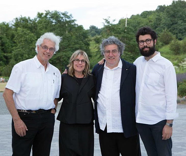 WSDG was engaged to recommend and integrate a complete tech package for the American art-collector's Nancy Olnick and husband Giorgio Spanu's Magazzino Italian Art Gallery's 2018 Summer Cinema screenings. Storyk, Olnick, Spanu and Calabrese.