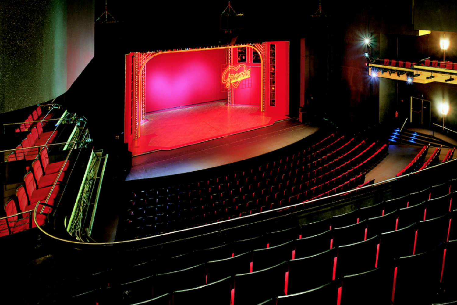 Musical Theater Basel in Basel, Switzerland. Acousting consulting and treatment by WSDG in Europe. Main stage with lighting