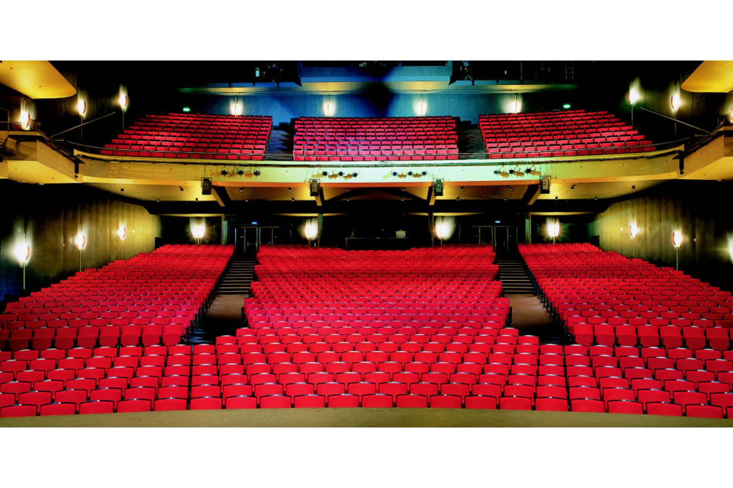 Musical Theater Basel in Basel, Switzerland. Acousting consulting and treatment by WSDG in Europe. Rear view