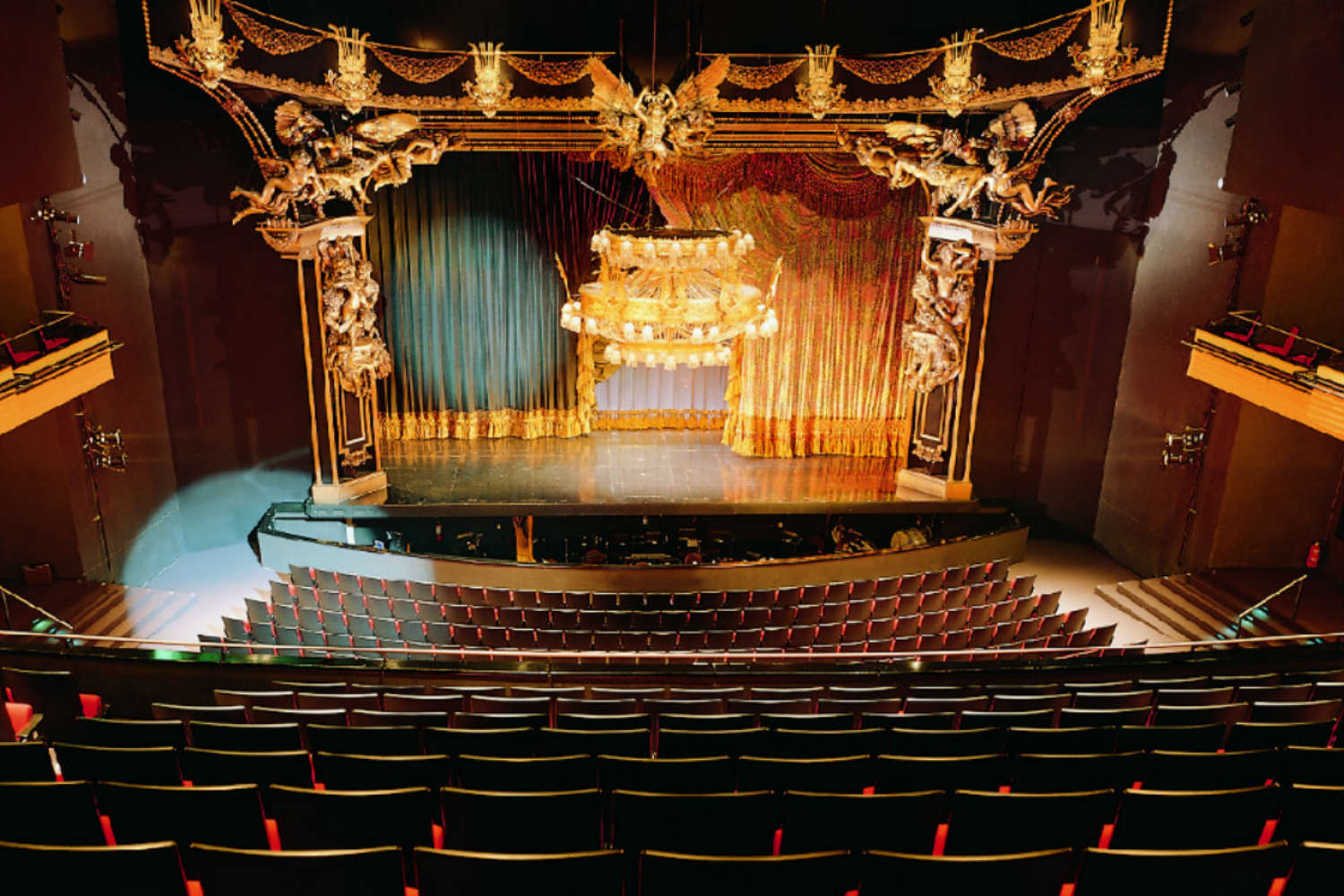 Musical Theater Basel in Basel, Switzerland. Acousting consulting and treatment by WSDG in Europe. Main stage with hidden treatment