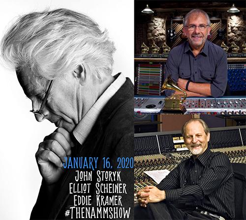 NAMM Show 2020 - AES Academy Control Room Design Talk: John Story (WSDG), Eddie Kramer and Elliot Scheiner.