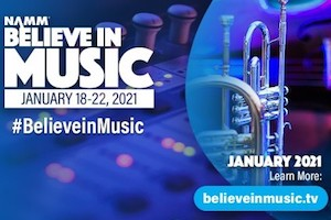NAMM 2021 Online Event from January 18-21, 2021.