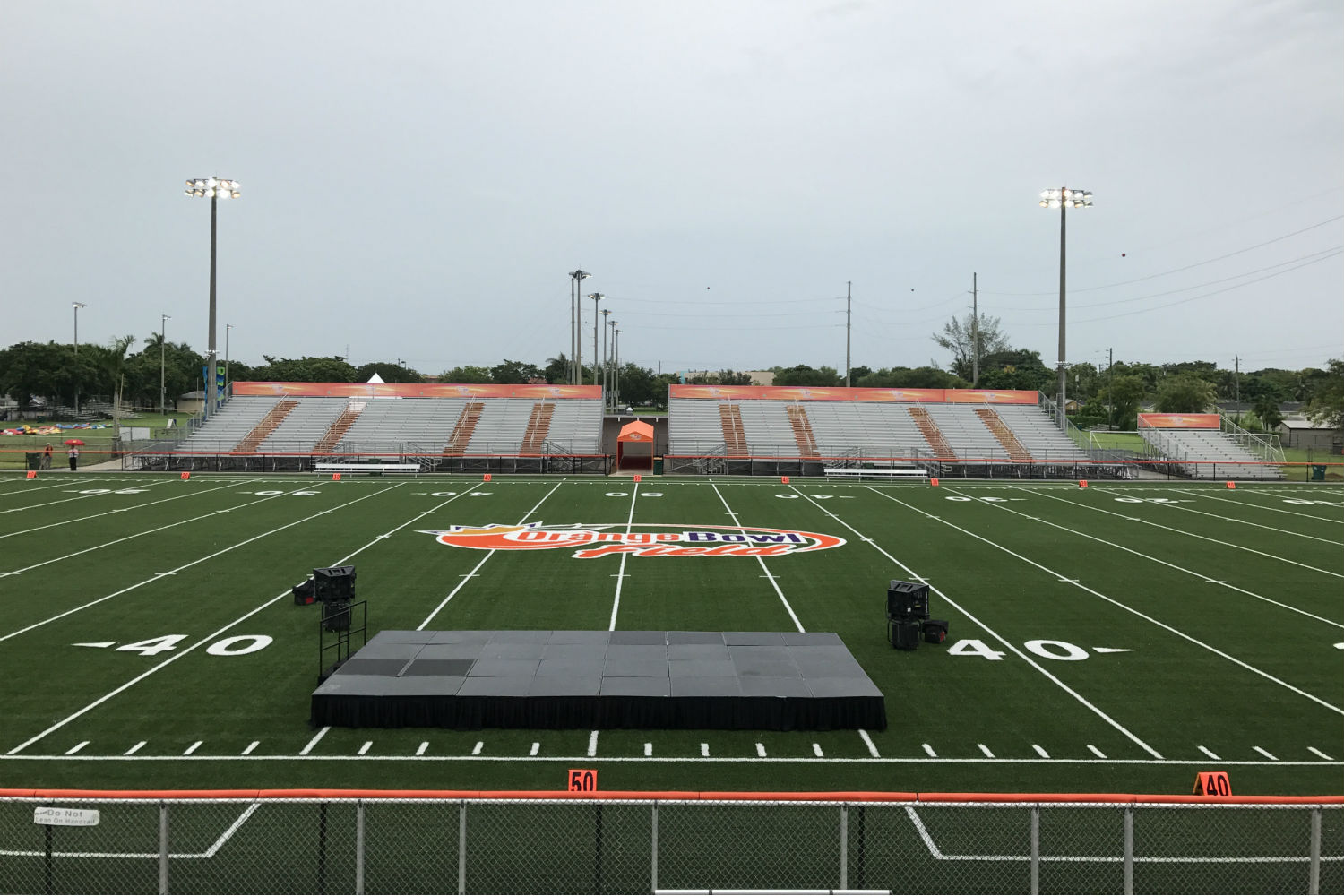 The Orange Bowl Field at Harris Field Park is the Orange Bowl's fourth Legacy Gift to the South Florida community. WSDG was reached by Groovyland Corp to design the sound system design and systems integration for the field's rejuvenation. Field daylight opening.