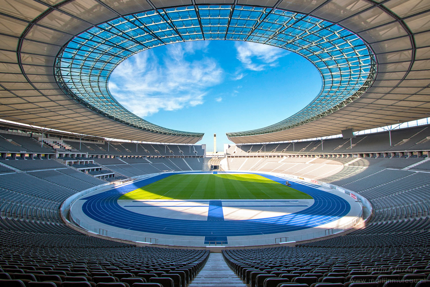 The Olympia Stadium Berlin is a Olympic and FIFA Germany 2006 World Cup Stadium, with a capacity of more than 70000 people. Extensive simulation calculations using the computer model were the core of work of ADA-AMC - WSDG. Stadium interior and speaker system.