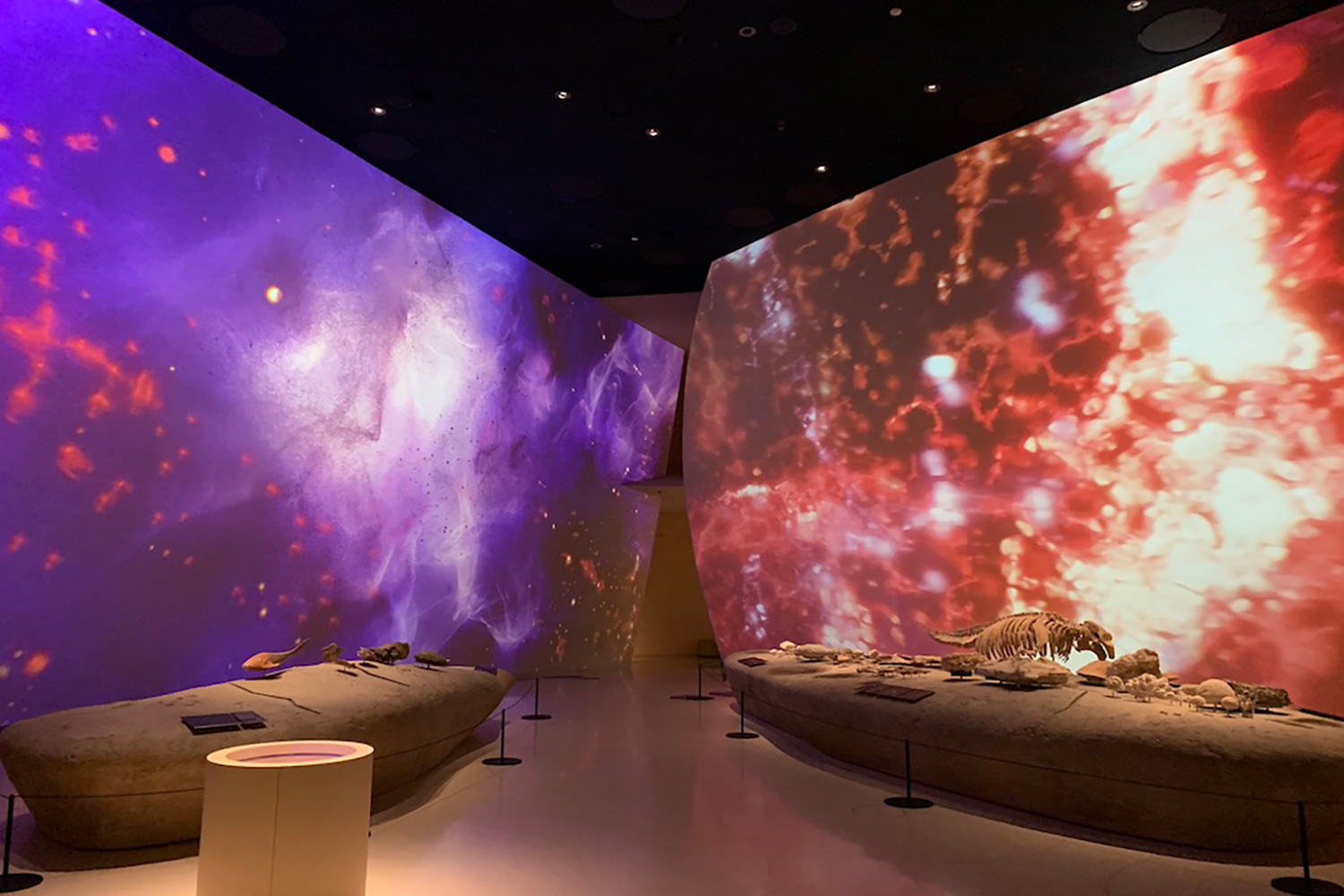 The National Museum of Qatar. WSDG was contracted to create a 3-D acoustic model of the space and make recommendations regarding appropriate speaker usage and placement. High-end room.