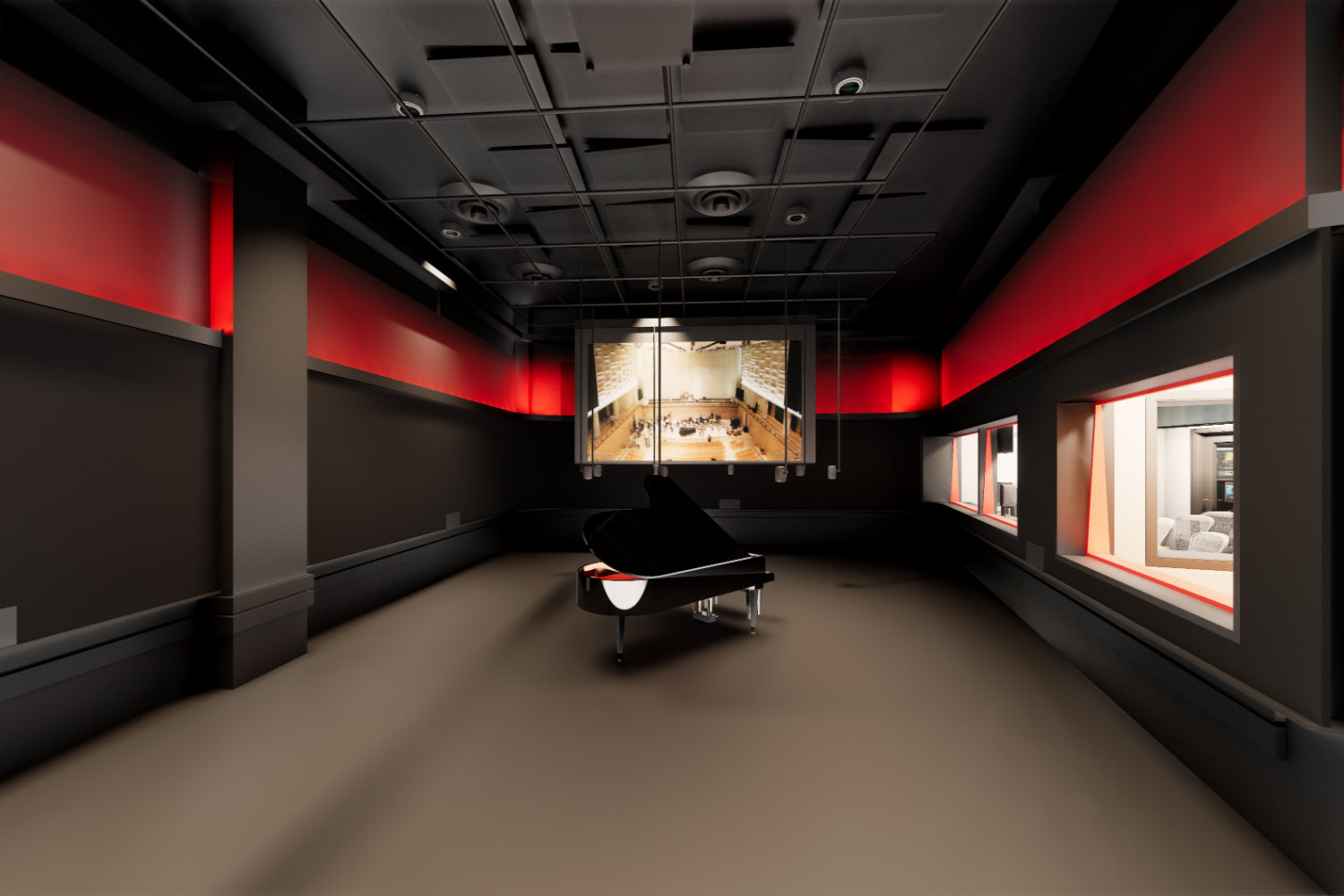 Rensselaer Polytechnic Institute (RPI) brand new state-of-the-art audio production facilities, designed by WSDG - Main Live Room