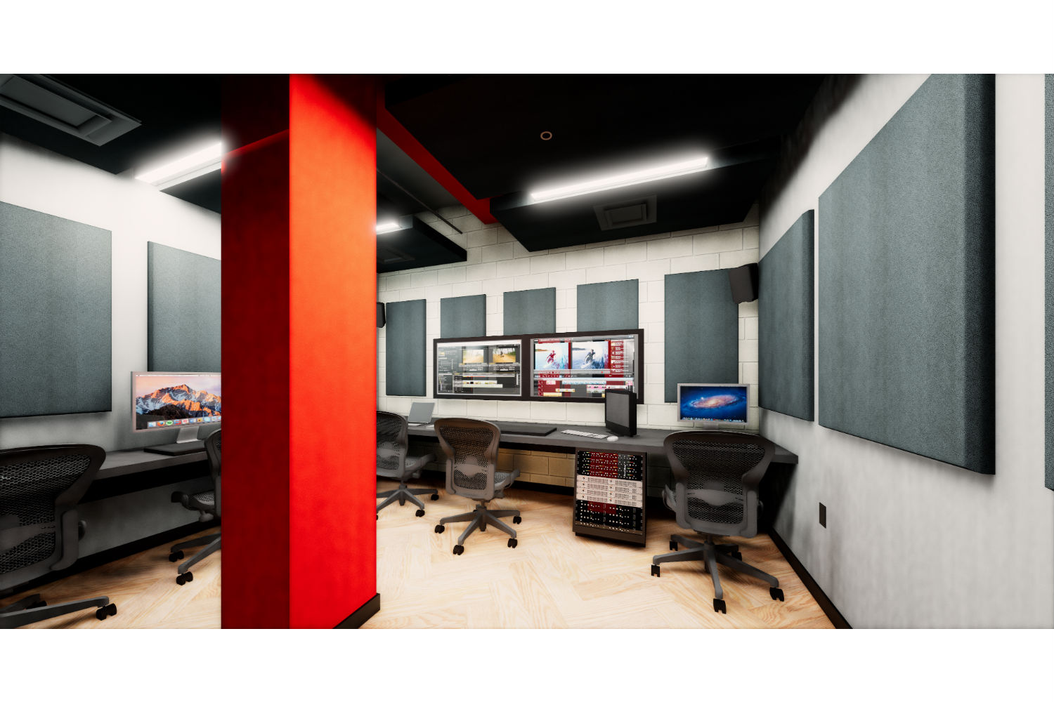 Rensselaer Polytechnic Institute (RPI) brand new state-of-the-art audio production facilities, designed by WSDG - Production Suites