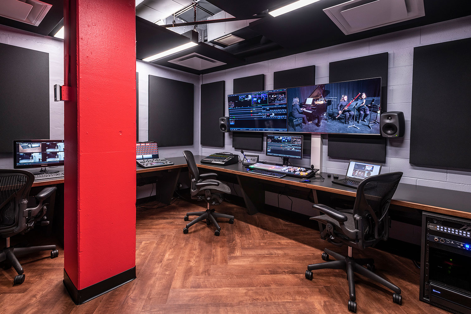 Rensselaer Polytechnic Institute (RPI) brand new state-of-the-art audio production facilities, designed by WSDG - Audio Production Lab
