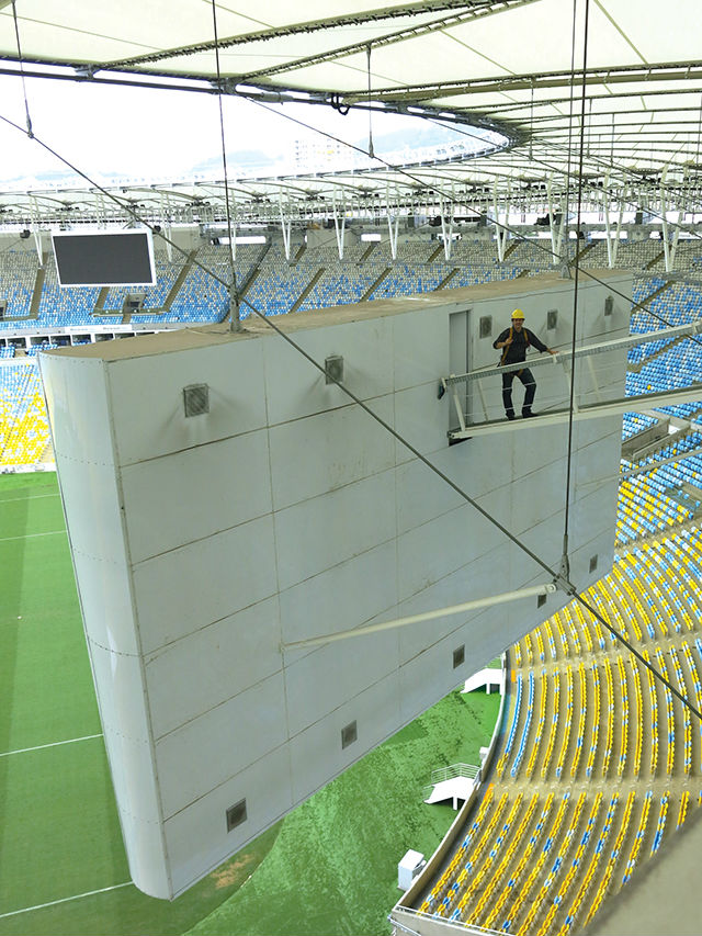 Renato Cipriano from WSDG doing the renovations at the Maracana Stadium before the Rio Olympics 2016 in Rio de Janeiro