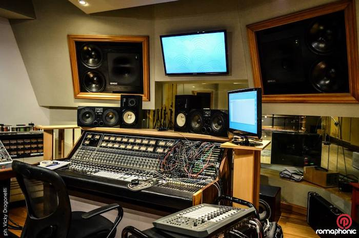 Romaphonic Studio in Buenos Aires, Argentina. Ex Circo Beat, former Fito Paez studio, now owned by Nicolas Romero. Control Room.