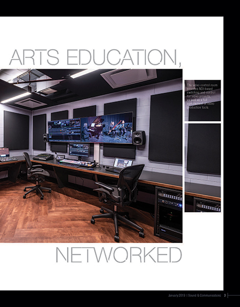 WSDG-designed RPI's brand new immersive audio/video/3d production complex featured on the cover of Sound & Communications February 2019 Issue. Page 3.