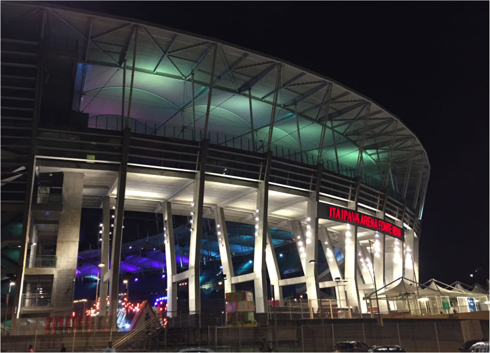 Arena Fonte Nova - Salvador Summer Fest. Acousticians for 2017 WSDG Brazil. Entertainment, south america