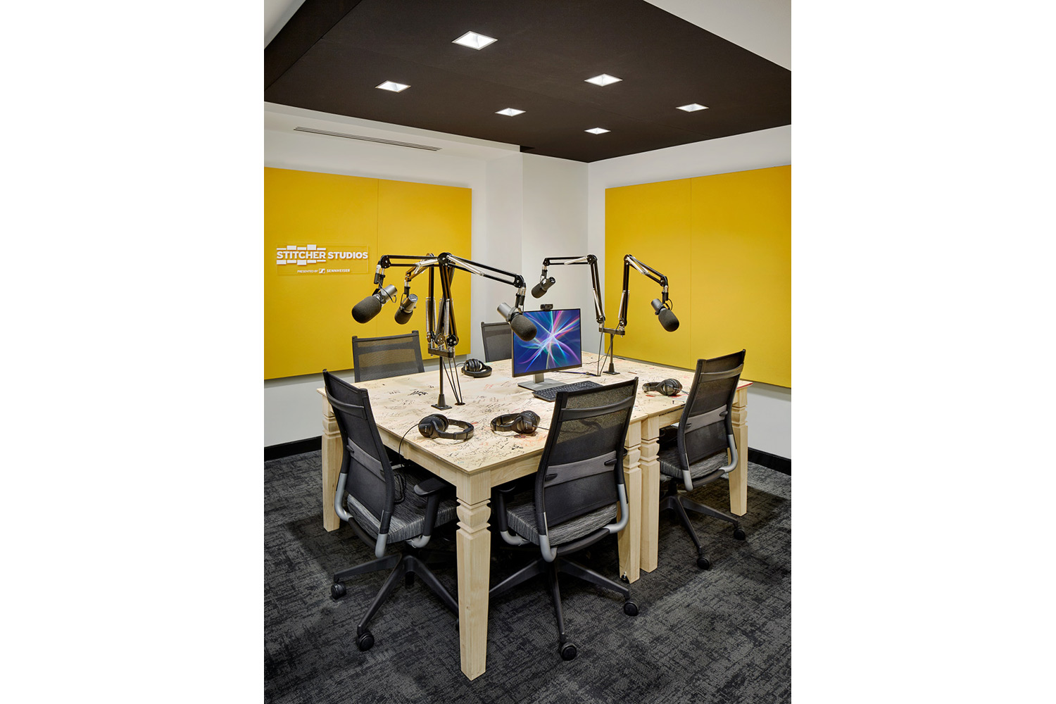 Stitcher is among the earliest, the most creative and most successful podcast creator companies. Their team made a move to build out larger production facilities in both its NY and LA offices and they chose WSDG to design their new podcast studios facilities. Studio C.