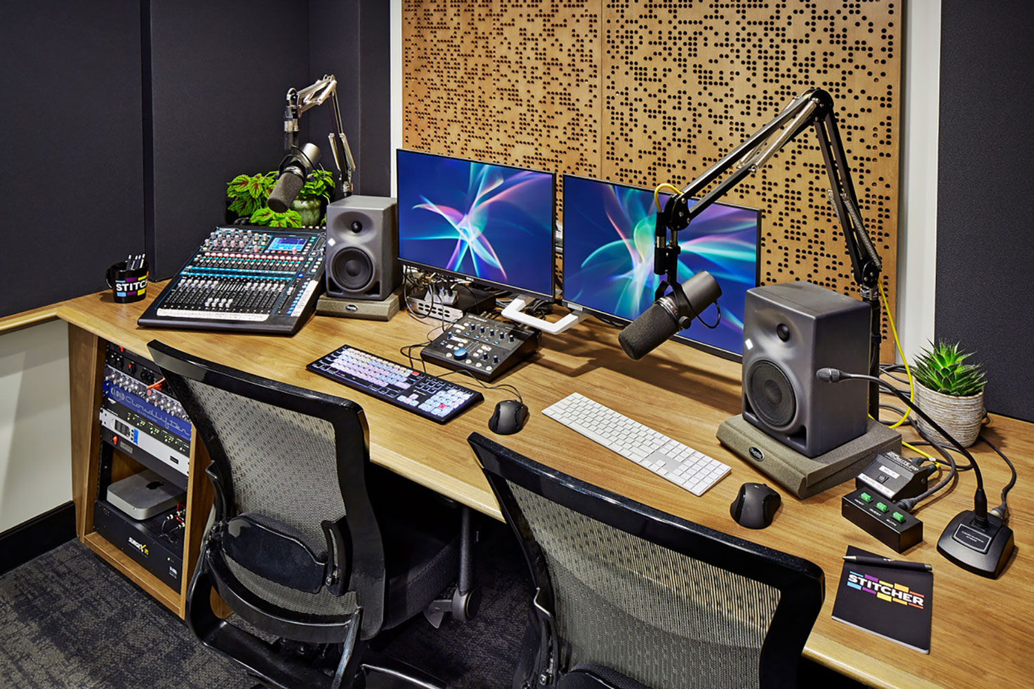 Stitcher is among the earliest, the most creative and most successful podcast creator companies. Their team made a move to build out larger production facilities in both its NY and LA offices and they chose WSDG to design their new podcast studios facilities. Edit A 2.