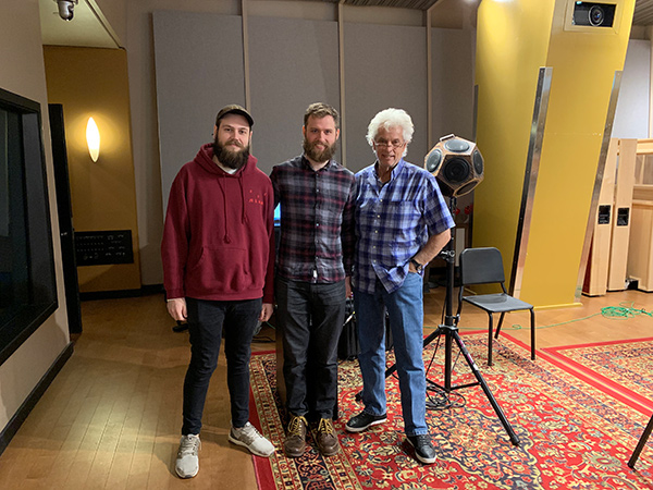 Storyk / Molho Family Professional Writing and Music Technology Scholarship Award Established at Berklee College of Music. John Story, William Yeo, Arthur Palgi at Shames Scoring Stage.