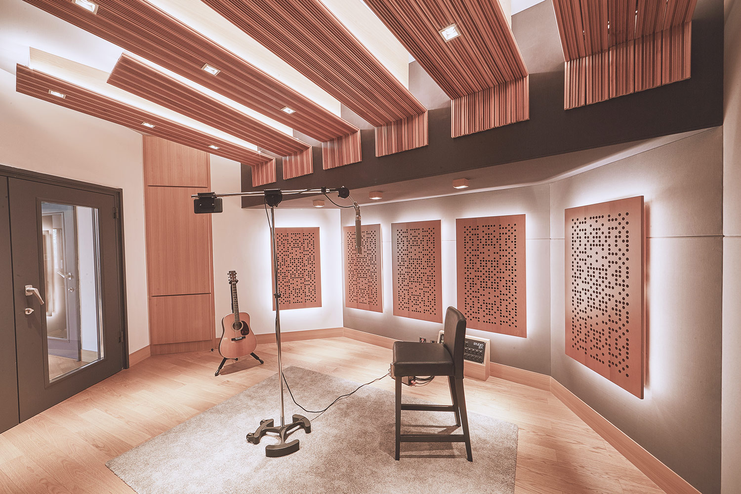 Intrigued by WSDG's reputation in designing the best recording studios in the world, multi-talented recording and mixing engineer TC Zhou started a deep collaboration with our global team for his brand-new Studio 21A facility in Beijing, China. Piano Booth.