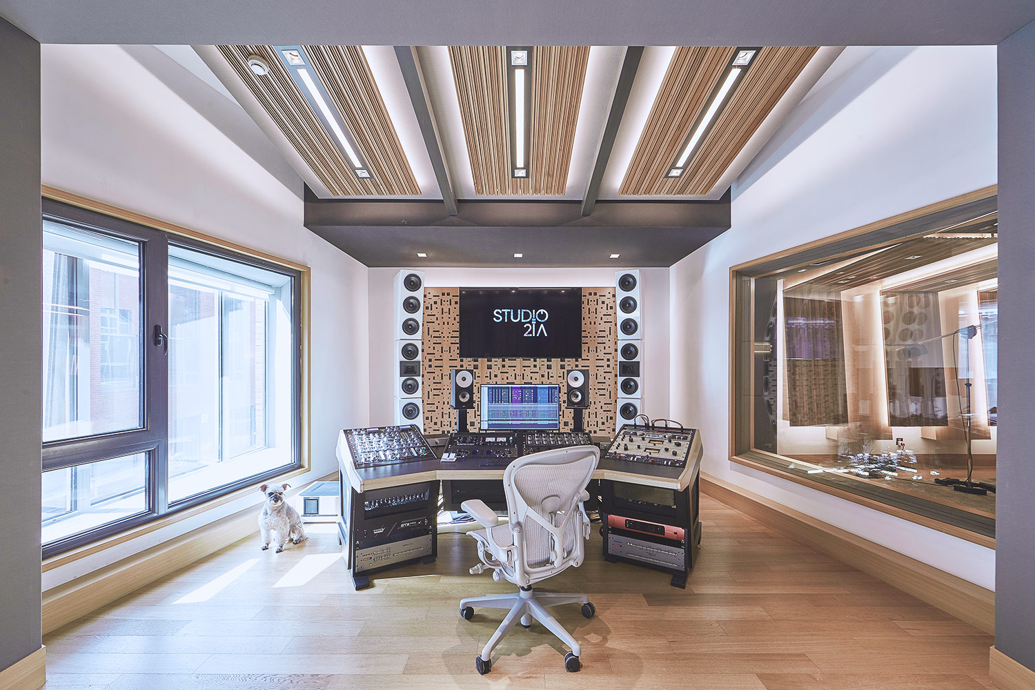 Intrigued by WSDG's reputation in designing the best recording studios in the world, multi-talented recording and mixing engineer TC Zhou started a deep collaboration with our global team for his brand-new Studio 21A facility in Beijing, China. Control Room C Mastering Wide.