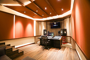 T-One Studios is the brainchild of engineers Qiwu Tan and Yi He located in Hohhot, China. WSDG's services were retained to design this modern and cool world-class recording facility. Control Room.