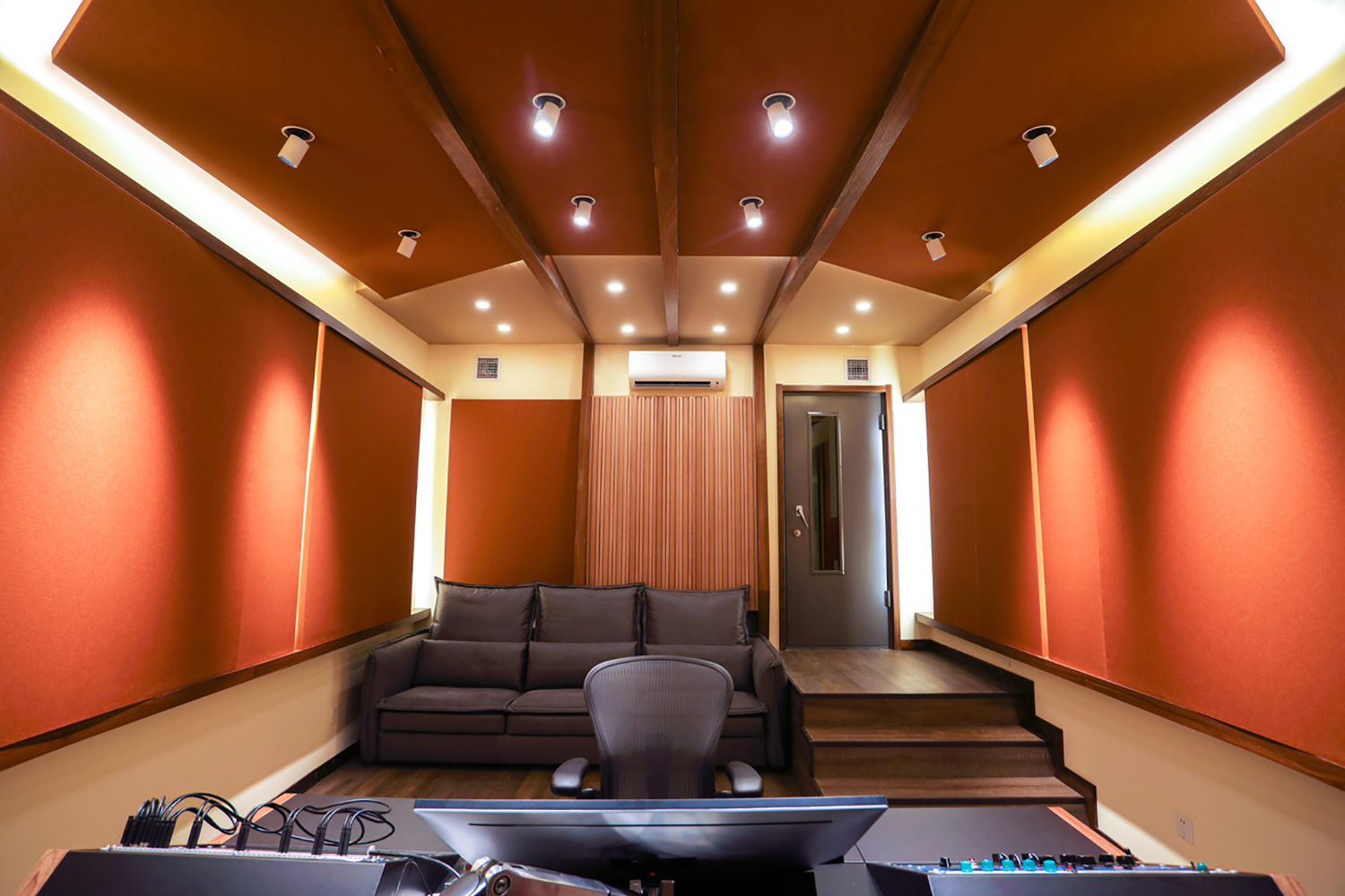 WSDG-designed T-One Studios in Hohhot China. Control Room.