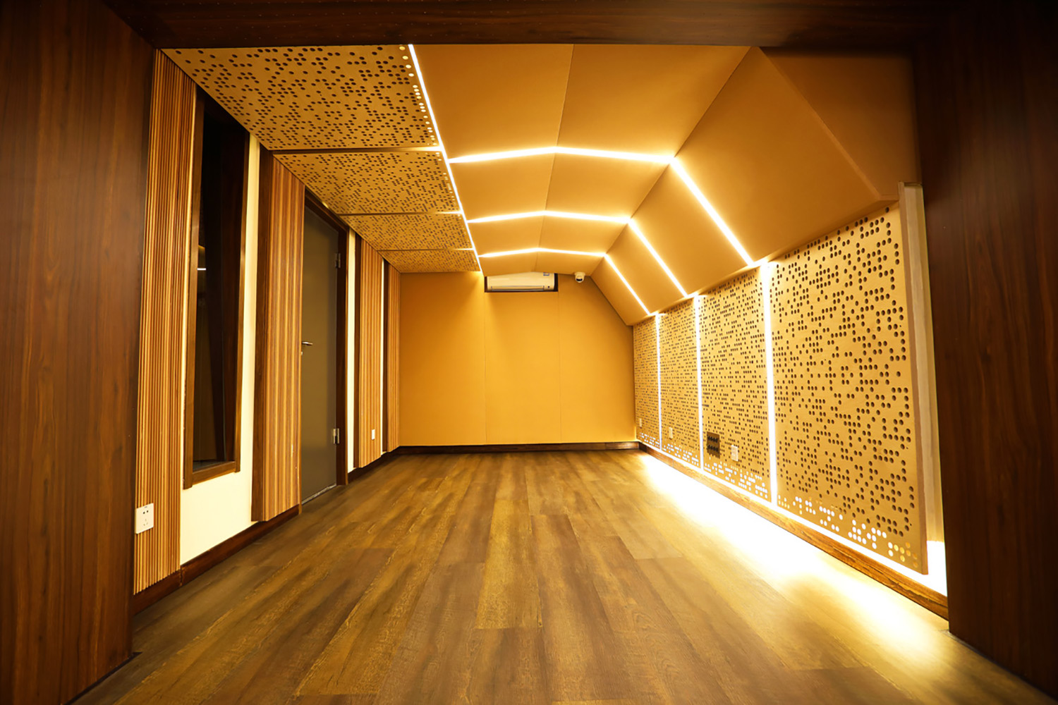 WSDG-designed T-One Studios in Hohhot China. Live Room 2.