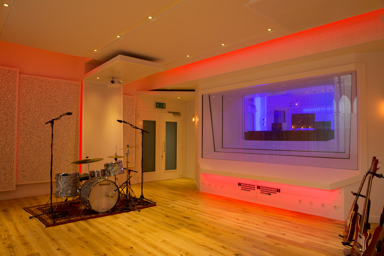 The Church Studios - Paul Epworth, London. Studio A Live Room designed by WSDG