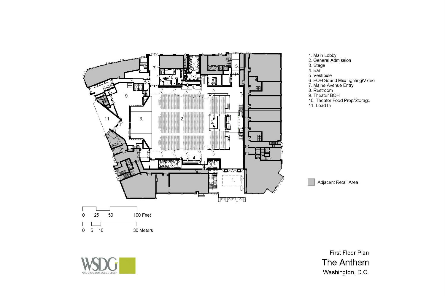 The Anthem, is a game-changing, multi-tiered concert hall created by impresario, Seth Hurwitz. To provide flawless acoustics, the WSDG team was commissioned to take care of the acoustic modeling and simulations. Presentation drawing 3