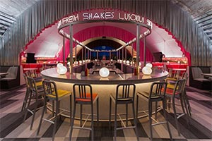 New York architect David Rockwell and his studio the Rockwell Group has teamed up with Surface magazine to celebrate its 25th anniversary with The Diner. was honored to be a part of the team as acoustic consultants.