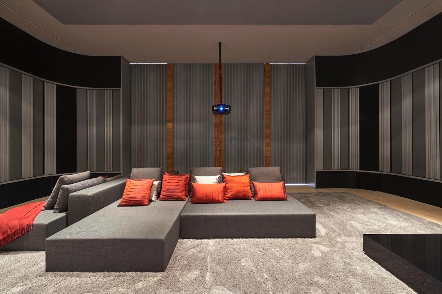 The Ultimate Home Theater seating configuration in Belo Horizonte, Brazil