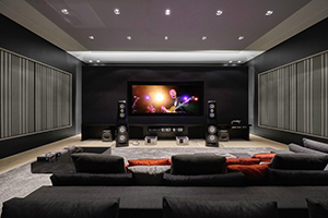 This ultra luxurious home in Belo Horizonte, Brazil had two primary requirements: The quintessence of advanced audio and video technology, and it was to be housed in the most sumptuous and acoustically pristine environment imaginable. Home Theater photo. WSDG Residential projects.