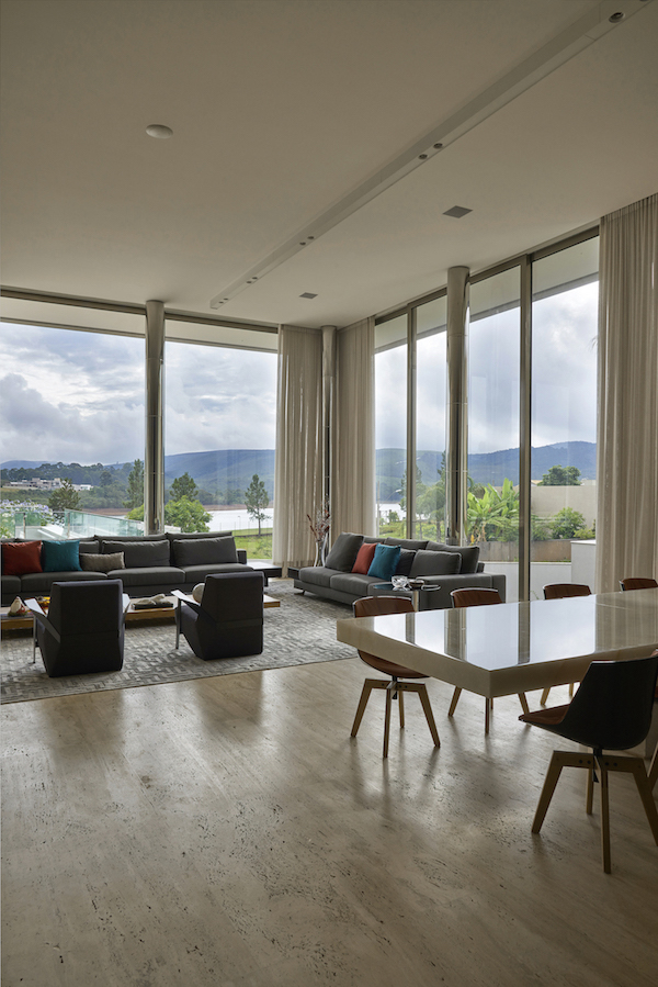 View from the living room of The Ultimate Home Theater in Belo Horizonte, Brazil