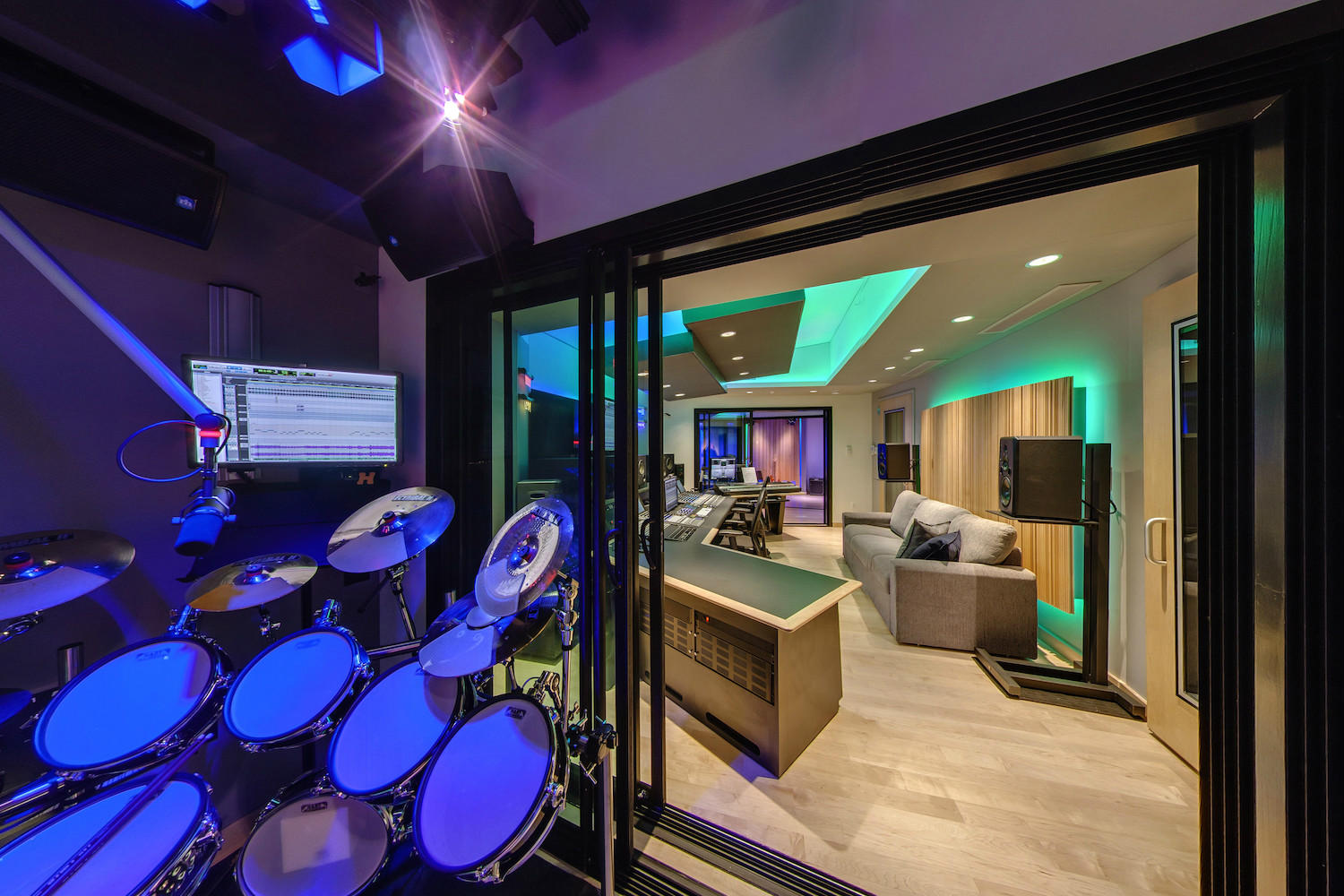 The MacPhails met WSDG to achieve a full up, professionally designed, acoustically superlative residential recording studio for their thriving audio production business. ISO Booth to Studio.