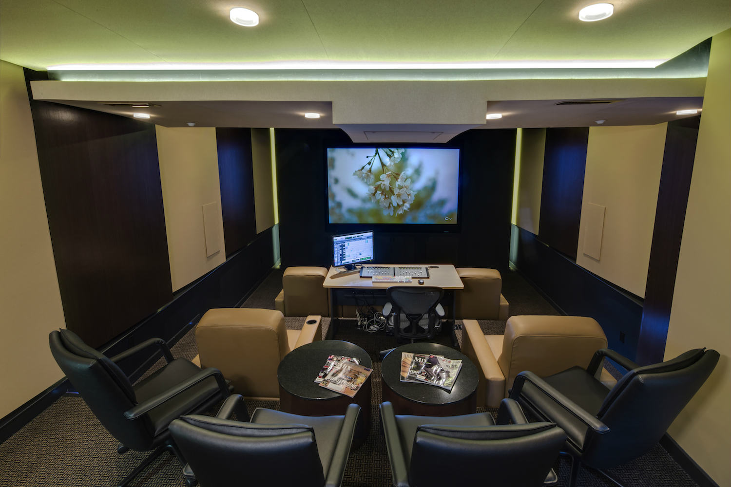 The MacPhails met WSDG to achieve a full up, professionally designed, acoustically superlative residential recording studio for their thriving audio production business. Home theater 2.