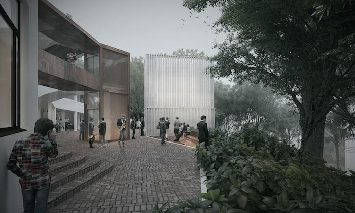 Universidad de Los Andes, nuevo edificio de practicas musicales fachada. MOBO Architects & WSDG. Arch Daily, plataforma arquitectura