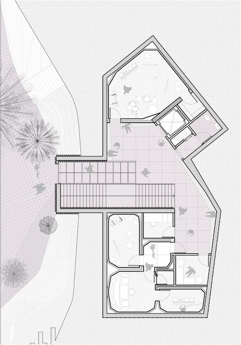 Universidad de Los Andes plano, edificio de practicas musicales presentation drawing, WSDG & MOBO Architects