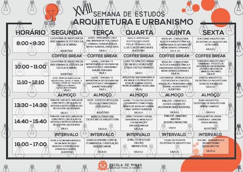 Universidade Federal de Ouro Preto Acoustic Week Seminars Schedule - WSDG, Renato Cipriano