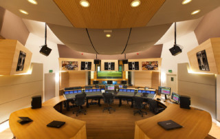 VSL Synchron Stage Control Room A - Main Photo color corrected. Renovation on historic recording studios for orchestras in Vienna, Austria
