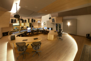 VSL Synchron Stage in Vienna, Austria. Legendary Recording Studio in the heart of Europe, new re-designed control room by WSDG