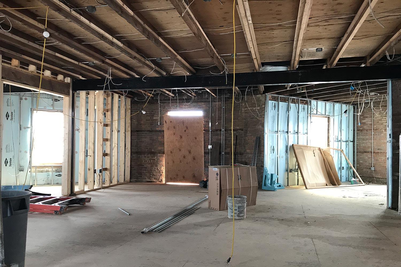 Radio Kingston WKNY Construction Phase 1.