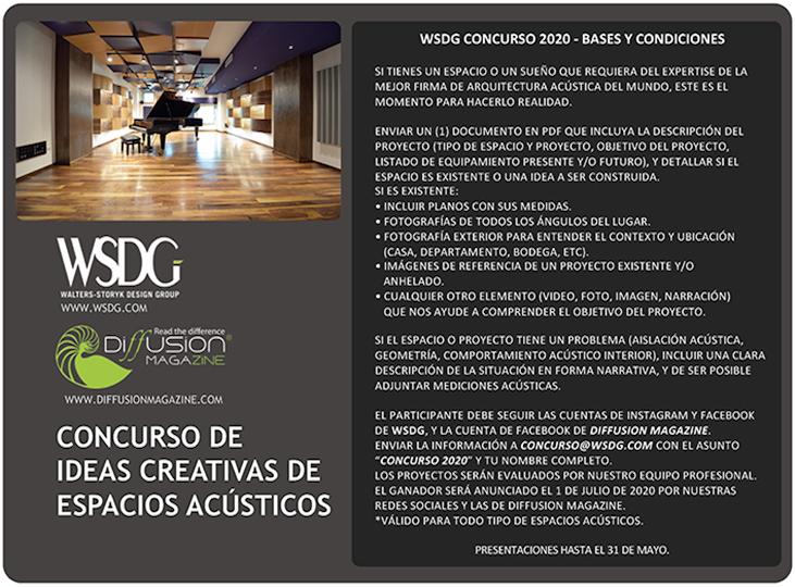 WSDG Latin Concurso de ideas creativas de espacios acusticos 2020. Bases y condiciones. Back.