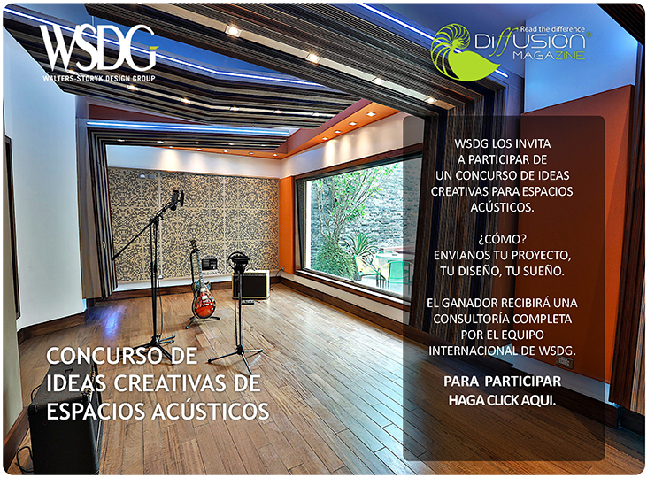 WSDG Latin Concurso de ideas creativas de espacios acúsitcos. Front.