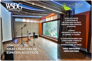 WSDG Latin Concurso de ideas creativas de espacios acusticos 2020. Front.