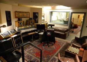 Jack Antonoff's XL Studios from his XL Recordings label, located in Soho, NYC, designed by WSDG. Control Room