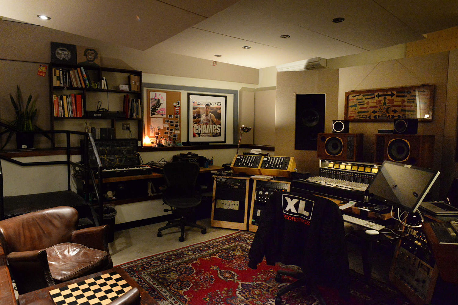 Jack Antonoff's XL Studios from his XL Recordings label, located in Soho, NYC, designed by WSDG. Control Room 2