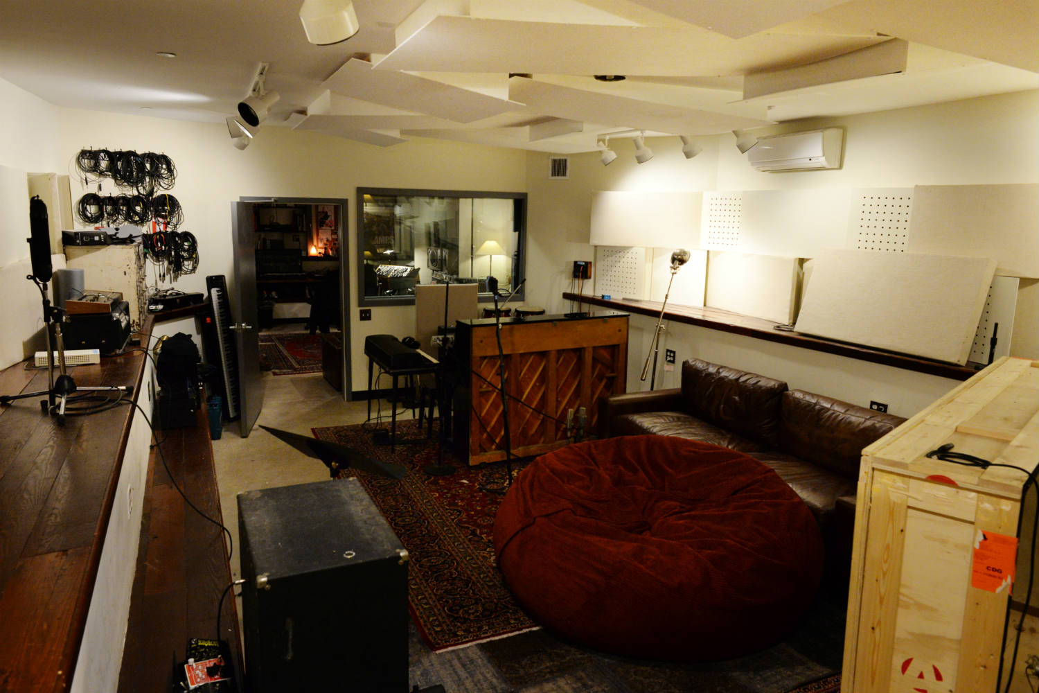 Jack Antonoff's XL Studios from his XL Recordings label, located in Soho, NYC, designed by WSDG. Live Room