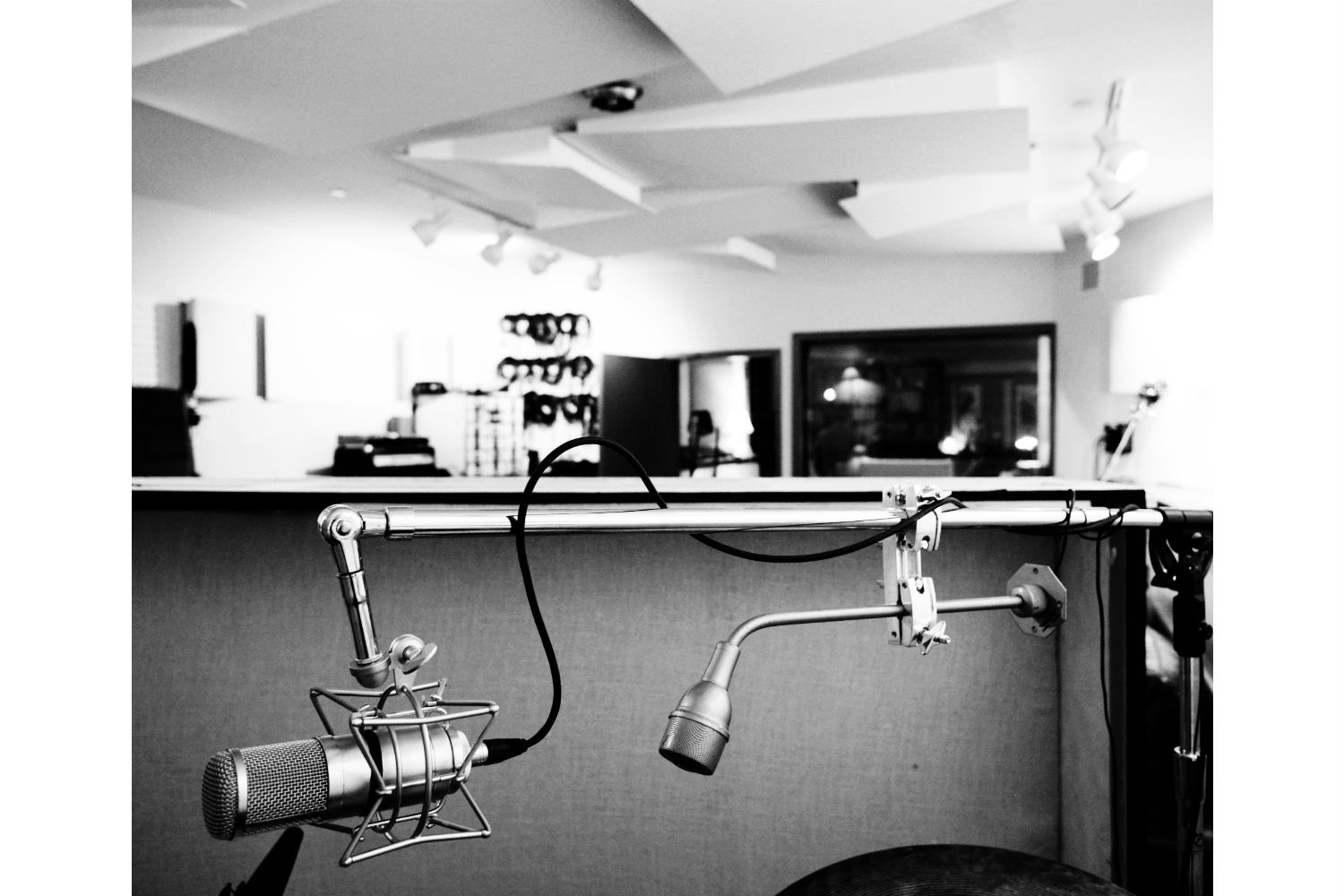 Jack Antonoff's XL Studios from his XL Recordings label, located in Soho, NYC, designed by WSDG. Live Room Micing