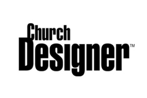 Church Designer Official Logo. Magazine involving new technologies for Churches and religious centers. WSDG.