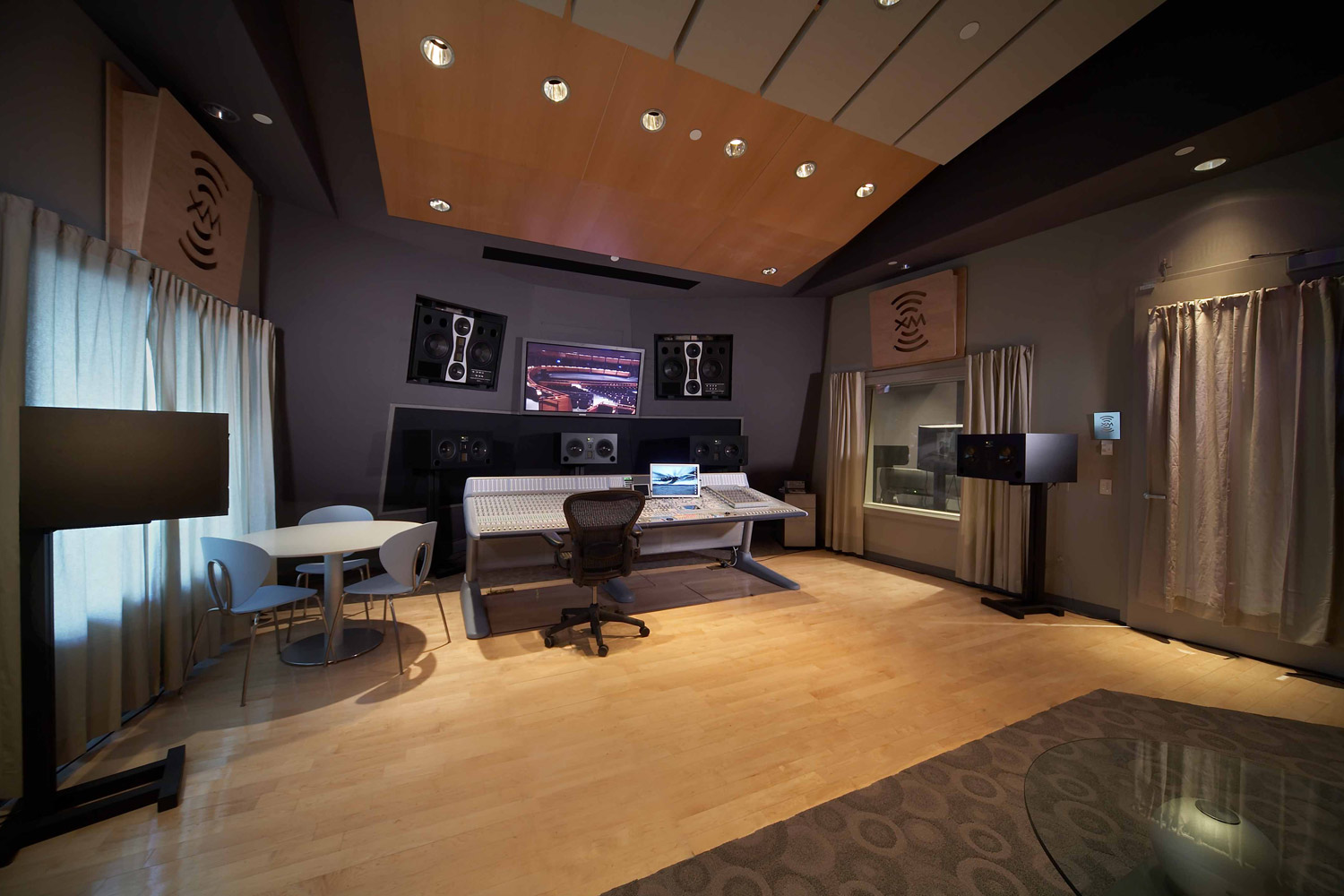 Jazz at Lincoln Center in Columbus Circus, NYC. Acoustic design and internal room acoustics by WSDG. WSDG-designed Recording studio.