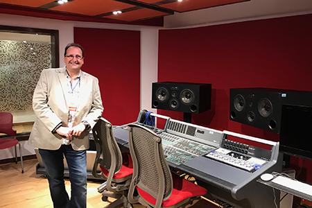 Sergio Molho de WSDG en la ceremonia de apertura de los nuevos estudios del TEC Monterrey. Unas de las instituciones educativas de audio profesional mas importantes de America Latina. Mejores estudios de grabación de educación.
