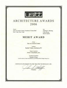 usitt 2006 jazz AWARD